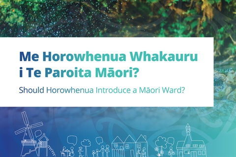 Have your say on the Maori Ward.
