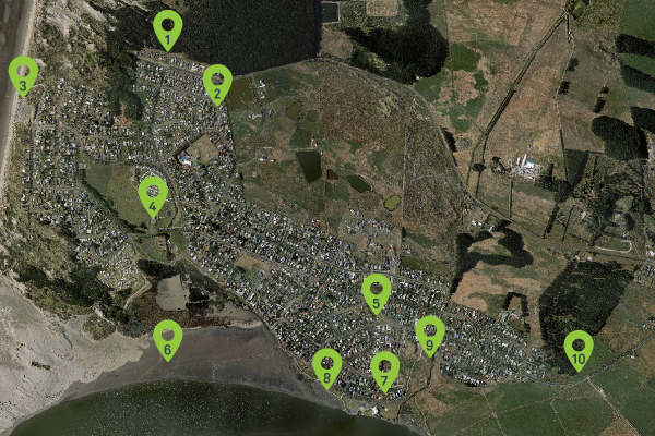 Proposed Foxton Beach Reserves Investment Plan Map.
