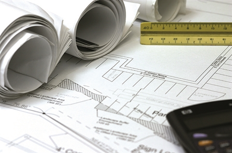 Planning Fees & Charges - House planning diagrams spread out.