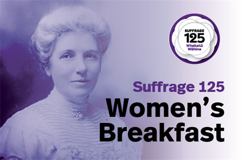 Event thumbnail image for Women's Breakfast - Suffrage 125.